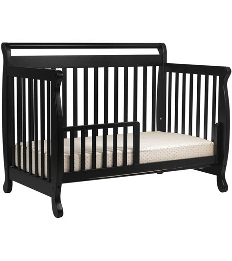 Davinci Emily 4 In 1 Convertible Crib With Toddler Rail Davinci Emily 4 In 1 Convertible Crib In Black
