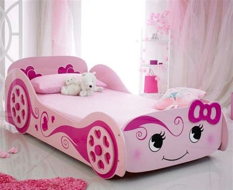 car beds for girls pink girls princess racing car bed and memory foam mattress