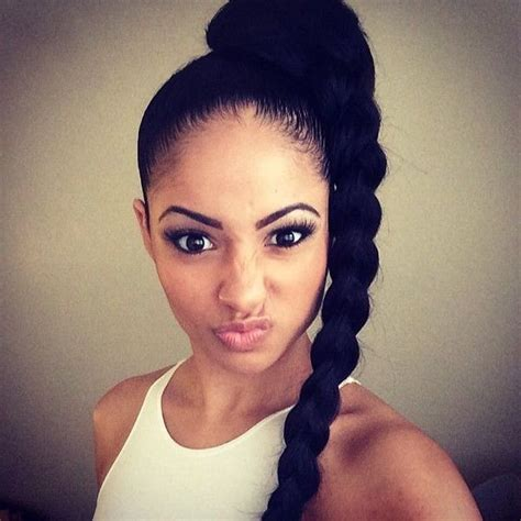 ponytail weave hairstyle with twisties braided ponytail hairstyles hair braided into a ponytail