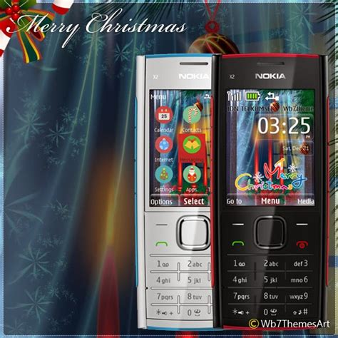 themes nokia x2 02 themes nokia x2 02 merry christmas theme x2 00 s406th wb7themes