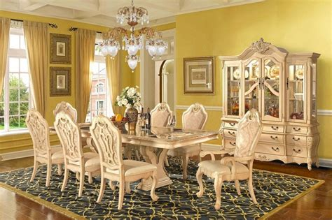Elegant Dining Room Set beige formal dining room set homey design free shipping