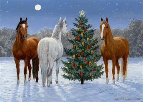 horses  tree box   christmas cards  lpg