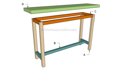 how to build a table how to build a console table howtospecialist how to