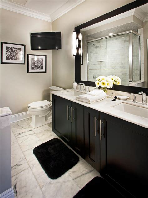 Black And White Bathroom Cabinets by Photo Page Hgtv
