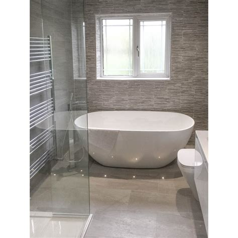 strata grey tiled bathroom finishing touches