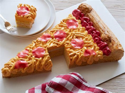 pizza cake images pizza slice cake recipe food network kitchen