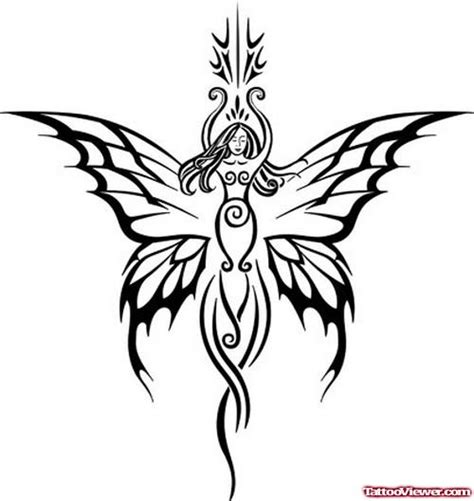 simple fairy tattoo designs awesome black ink tribal capricorn design