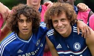 chelsea kane look alike david luiz trains with his lookalike as chelsea prepare