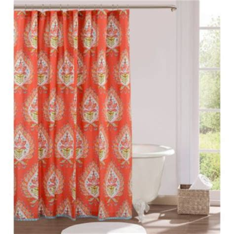 orange shower curtains fabric buy shower stall size shower curtains from bed bath beyond