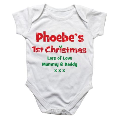 personalised first christmas baby grow the gift experience