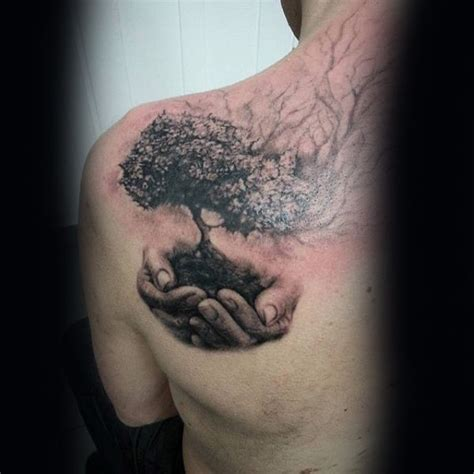 tree of life tattoo for men 40 tree back designs for wooden ink ideas