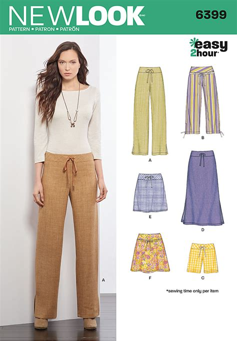 sewing pattern ladies trousers new look 6399 sewing pattern miss ladies women trousers