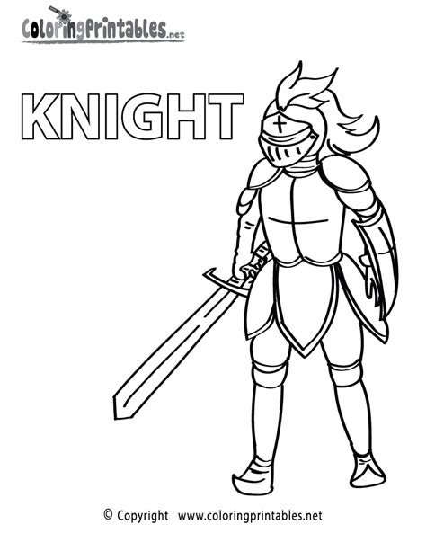 coloring page of knight in armor free printable knight armor coloring page
