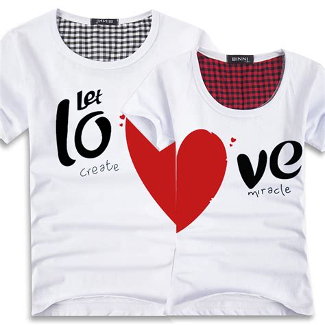 lover t shirts couples t shirts printing100 cotton t shirt