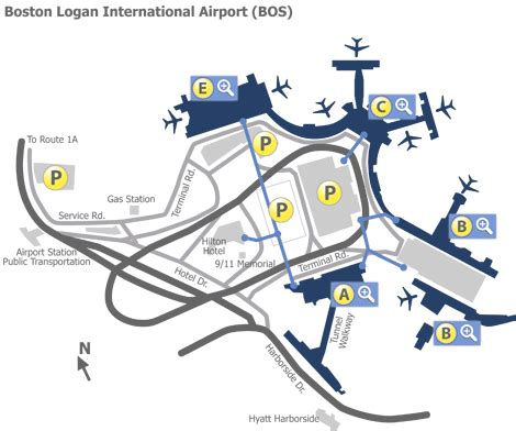 boston logan airport map boston logan airport bos terminal maps map of all terminals at boston logan airport