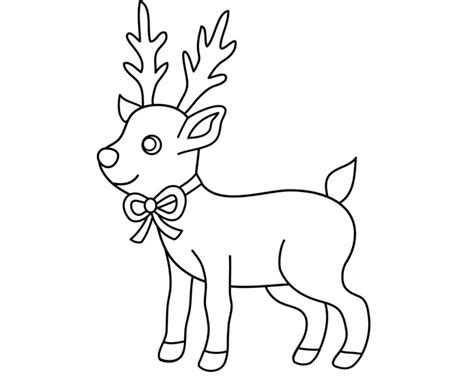 reindeer template to colour reindeer template animal templates free premium