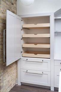 Kitchen Cabinets Pull Out Shelves by Fabulous Kitchen Features Concealed Pantry Cabinets Fitted