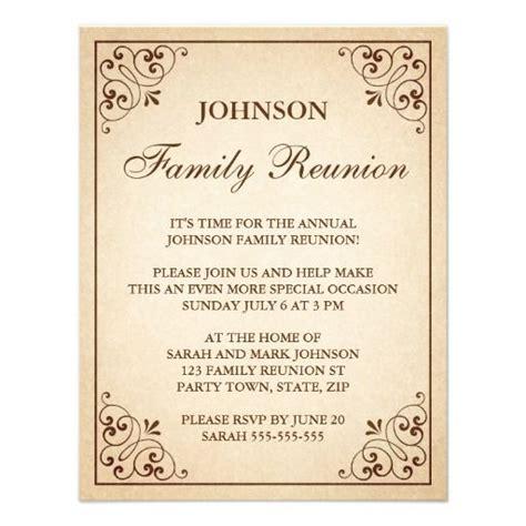 family reunion invitations invitations pinterest