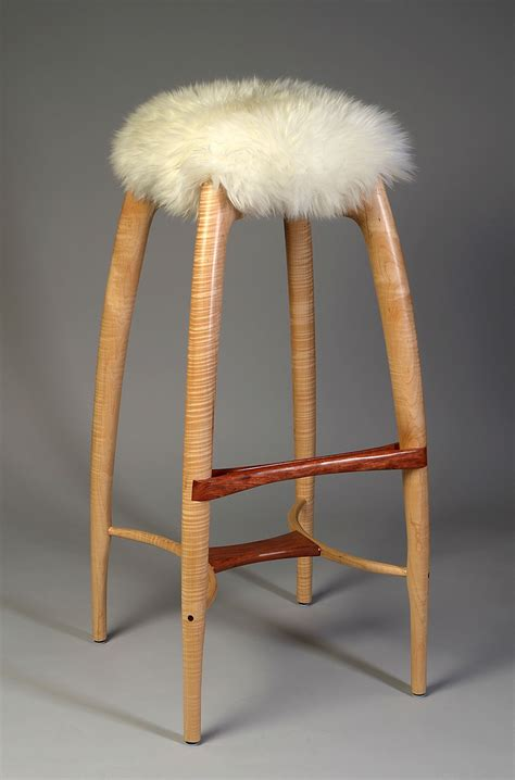 Maple Bar Stools With Leather Seats by Handmade Modern Counter Height Stool Bar Stool Carved
