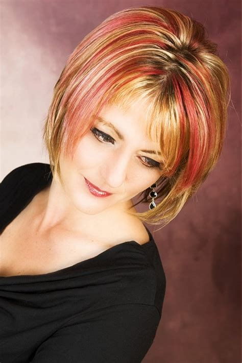 bob haircuts with red highlights 30 blonde hair with red highlights which are in trend