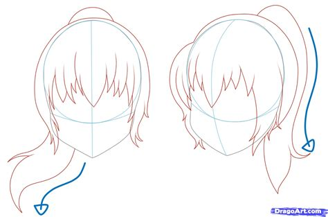 anime hairstyles ponytails anime ponytail hairstyles learn how to draw girl hair