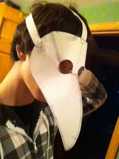 plague doctor mask pattern template instructions by bifbuzz