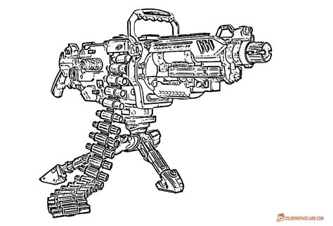 Coloring Page Gun by Gun Coloring Pages And Print For Free