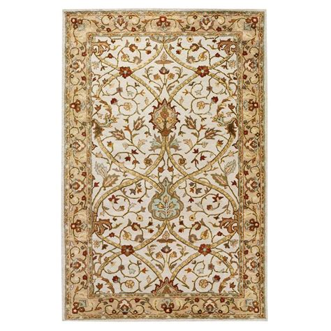 home accent rug collection home decorators collection anatole dark ivory beige 8 ft
