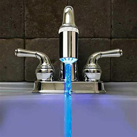 No Water From Water Faucet by No Battery Water Faucet Glow Led Temperature Sensor Tap