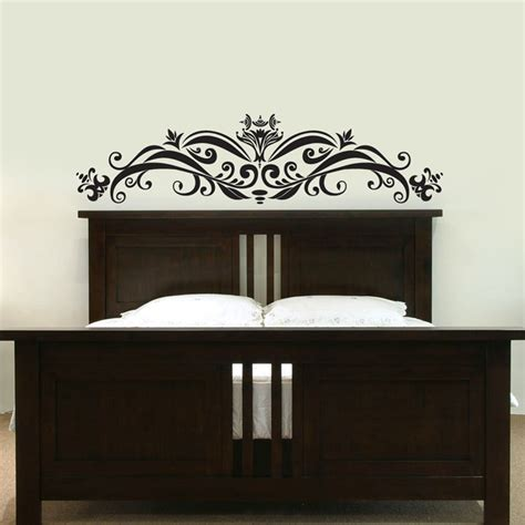 headboard vinyl wall decal ornate headboard wall decal sticker graphic