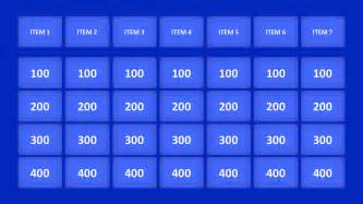 Jepordy Template by Jeopardy Powerpoint Templates