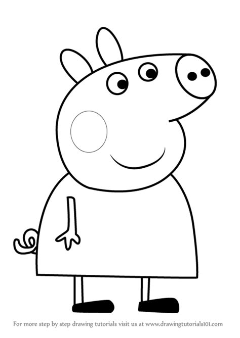 peppa pig drawing templates peppa pig drawings design templates