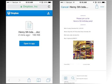 dropbox mobile open shared dropbox links in the dropbox mobile app cnet