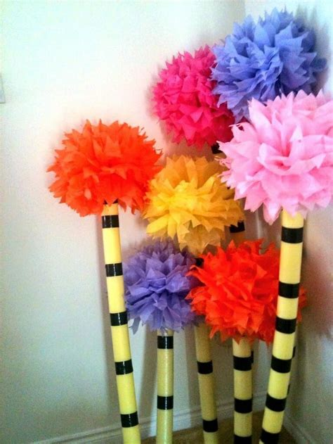 How To Make Lorax Trees Out Of Tissue Paper - pin by korynn lawson schmidt on neil s dr seuss birthday