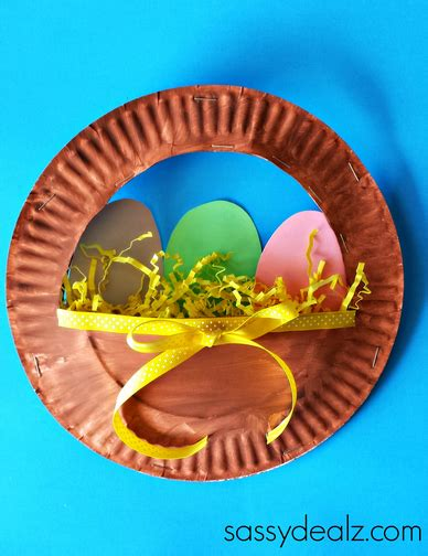 Easter Crafts Paper Plates - 3d paper plate easter basket craft for easter