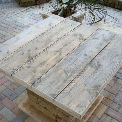 tafel rostock steigerhouten meubelen en damwandhout meubelen rustikal