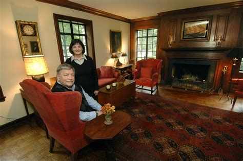Sunroom Fireplace Lagrange Couple Blends Early American And Modern Pieces To