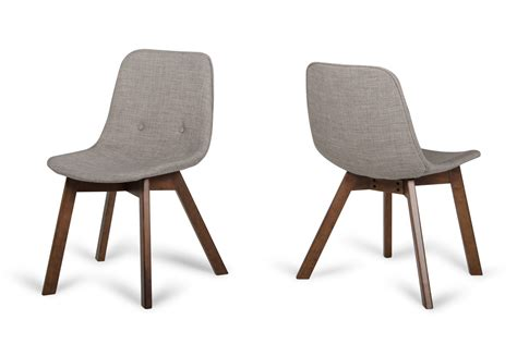 laken modern sesame walnut dining chair set of 2