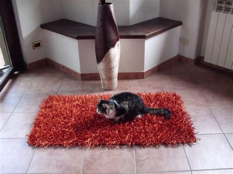 tappeto bagno arancione tappeti shaggy moderno bollengo