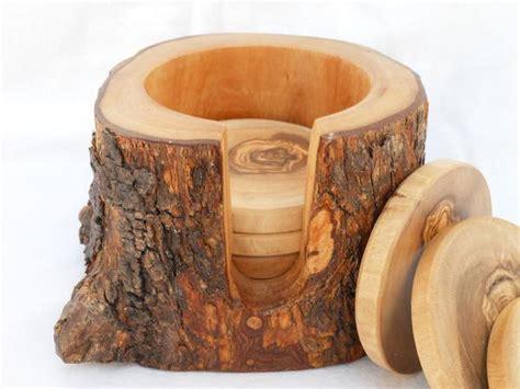 The Handmade Wooden Rustic Coaster Set Gadgetsin » Home Design 2017