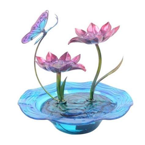 peaktop indoor butterfly glass tabletop water fountain