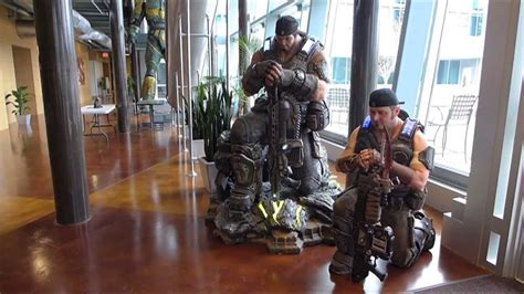 gears of war cosplayer epic games studio visit youtube