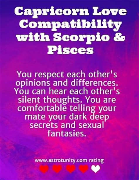 what zodiac signs are romantically compatible with capricorn