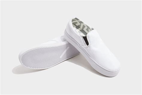 saturdays nyc vass canvas slip on shoes in white for