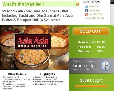 asia buffet coupons business closed on wagjag no alert no refund trueler