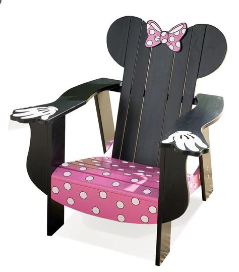 Minnie Mouse Chairs For by Disney Minnie Mouse Adirondack Chair With Black Finish