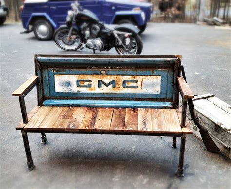 truck bench benches made from tailgates interior design ideas for