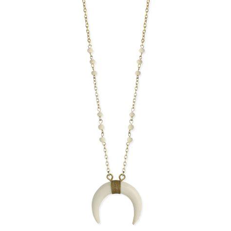 wholesale white horn necklace zad fashion