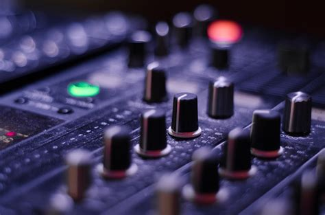 photo mixer knobs panel sound   image