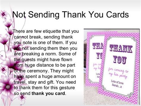 when to send wedding thank you cards etiquette 5 wedding etiquette mistakes to avoid